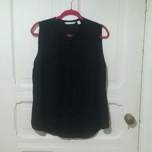 XL ☆ Lauren Conrad ☆ Black Bow Sleeveless Blouse